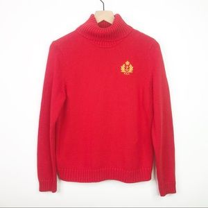 Ralph Lauren red turtleneck sweater size large
